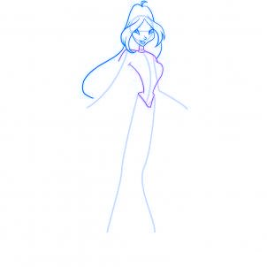 dessiner flora des winx - etape 6