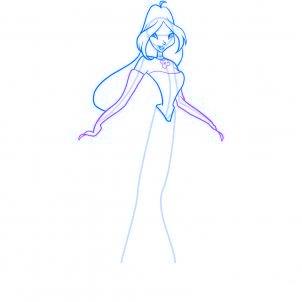 dessiner flora des winx - etape 7