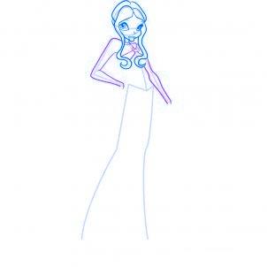 dessiner layla des winx - etape 5