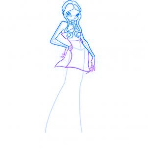 dessiner layla des winx - etape 6