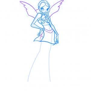 dessiner layla des winx - etape 7