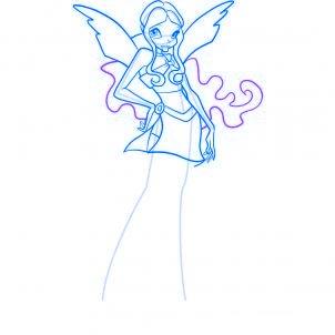 dessiner layla des winx - etape 8