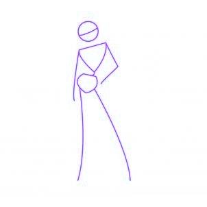 dessiner tecna des winx - etape 1