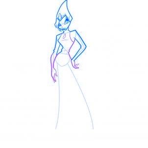 dessiner tecna des winx - etape 7