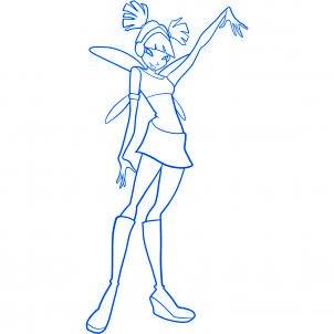 dessiner musa des winx - etape 10