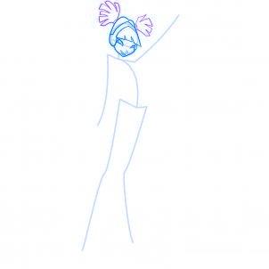 dessiner musa des winx - etape 4