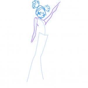 dessiner musa des winx - etape 5