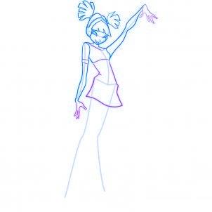 dessiner musa des winx - etape 6
