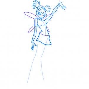 dessiner musa des winx - etape 7