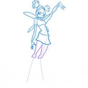 dessiner musa des winx - etape 8