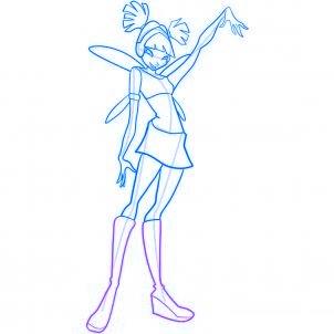 dessiner musa des winx - etape 9