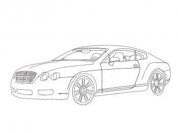 dessin de voiture Bentley terminé