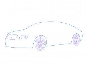 dessiner une voiture Bentley - etape 2