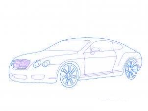 dessiner une voiture Bentley - etape 3
