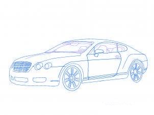 dessiner une voiture Bentley - etape 4