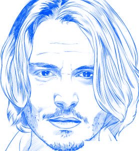 dessiner johnny depp - etape 6
