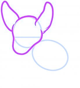 dessiner un kangourou - etape 2
