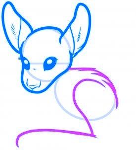 dessiner un kangourou - etape 4