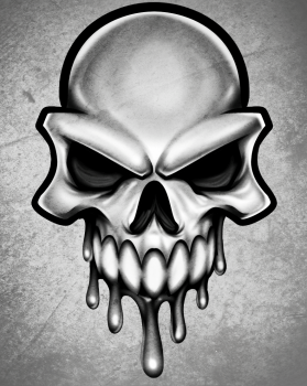 dessin de tete de mort termine terminé