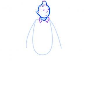 dessiner tintin - etape 3