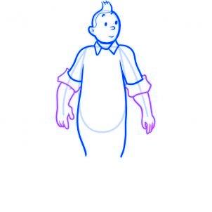 dessiner tintin - etape 5