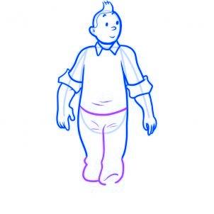 dessiner tintin - etape 6