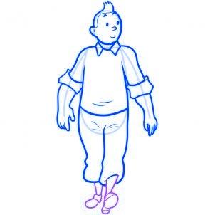 dessiner tintin - etape 7