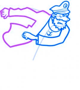 dessiner le capitaine haddock - etape 6