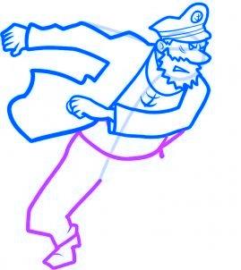 dessiner le capitaine haddock - etape 7