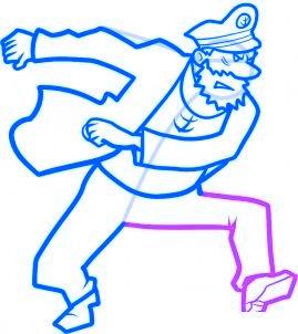 dessiner le capitaine haddock - etape 8