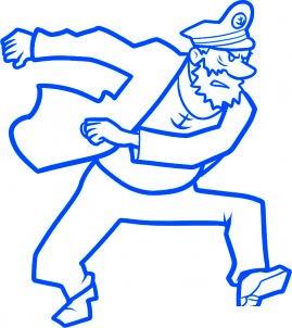 dessiner le capitaine haddock - etape 9