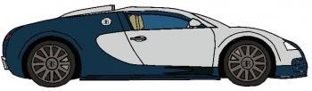 dessin de voiture Bugatti Veyron terminé