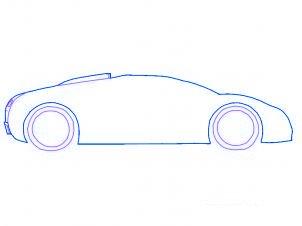 dessiner une voiture Bugatti Veyron - etape 2