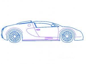 dessiner une voiture Bugatti Veyron - etape 4