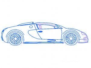 dessiner une voiture Bugatti Veyron - etape 5
