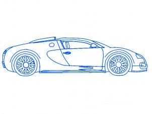 dessiner une voiture Bugatti Veyron - etape 6