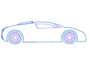 Comment dessiner une voiture bugatti beyron allodessin - Dessiner une voiture facile ...