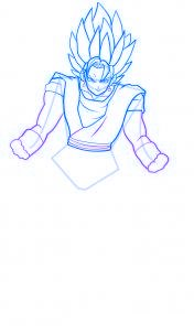 dessin vegeto de dragon ball z - etape 8