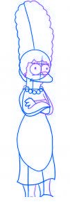 dessiner marge simpson - etape 3