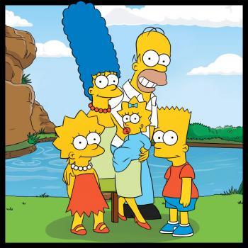 dessin de la famille simpson terminé
