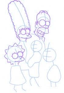 dessiner la famille simpson - etape 2