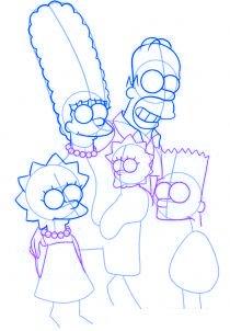 dessiner la famille simpson - etape 3