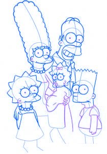 dessiner la famille simpson - etape 4