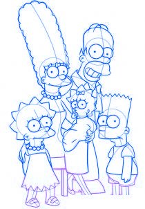 dessiner la famille simpson - etape 5