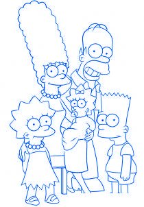 dessiner la famille simpson - etape 6