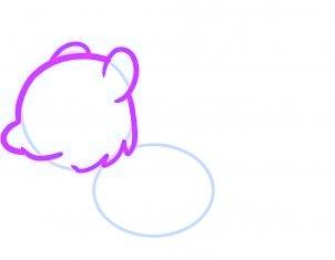 dessiner un ecureuil - etape 2