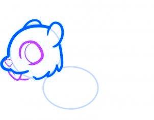 dessiner un ecureuil - etape 3