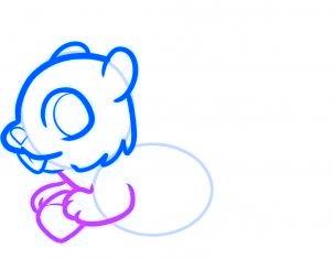 dessiner un ecureuil - etape 4
