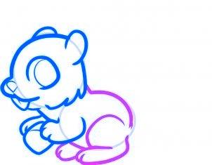 dessiner un ecureuil - etape 5