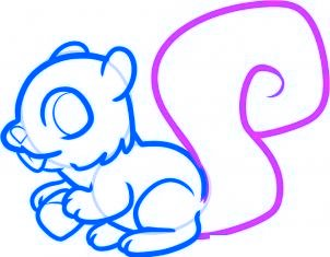 dessiner un ecureuil - etape 6